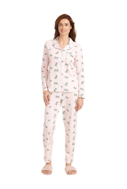 44715cd3611c Zivame Baby Pink Cotton Printed Pyjama Set
