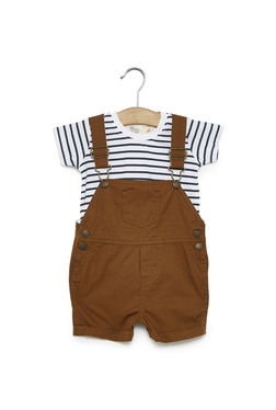 f634715620a2 Baby HOP by Westside Tan T-Shirt And Dungaree Denis Set