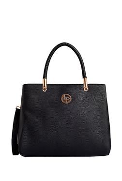 d4ded4128b52 Lino Perros Black Solid Handbag