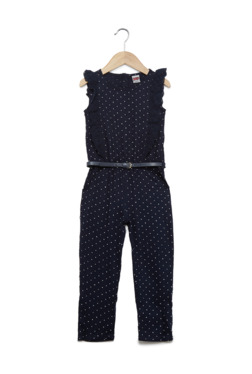 5b7ab7b86ad HOP Kids by Westside Navy Ray Polka Dot Jumpsuit And Belt