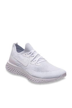 5a192baebd6 Nike Epic React Flyknit True White Running Shoes