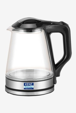 Kent 16023 1.7L 1500W Electric Glass Kettle (Transparent/Silver Black)