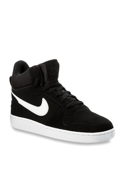 dc7f6260fc49 Nike Court Borough Mid Jet Black Ankle High Sneakers