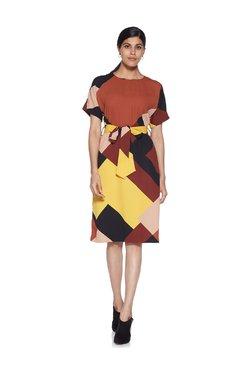 5ea29c9be2d Wardrobe by Westside Multicolour Tasha Dress With Belt