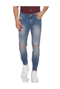605630f827d Nuon by Westside Blue Distressed Carrot Fit Rodeo Jeans