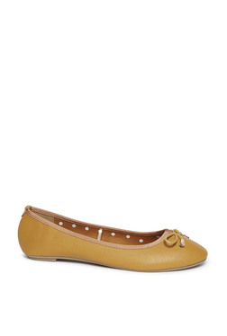 a13affd35239 LUNA BLU by Westside Yellow Bow Detailed Ballet Shoes