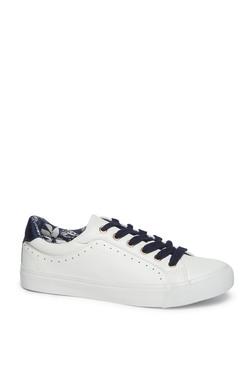 40d1157196dd LUNA BLU by Westside White Faux Leather Sneakers