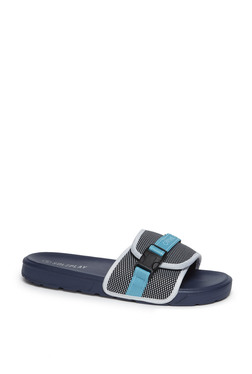 a9b5784086631 SOLEPLAY by Westside Navy Buckle Detailed Slides