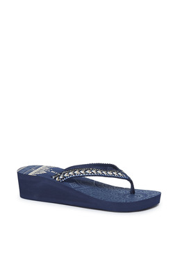 1eb5b8e43beb LUNA BLU by Westside Navy Wedged Flip-Flops