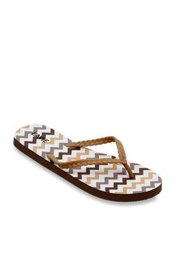 b5e60087e058 Lavie Brown   White Flip Flops