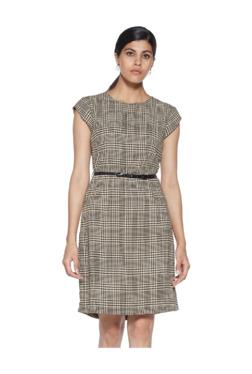 26fabed152 Wardrobe by Westside Beige Printed Tess Dress with Belt