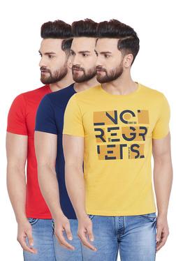 f78e45121e0 Duke Yellow   Navy Cotton T-Shirt (Pack of 3)