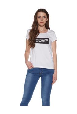 c5d7a77b7f6fba Zudio White Typographic Print T-Shirt