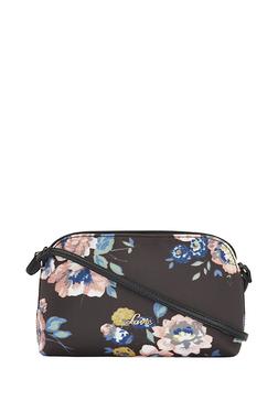 8648143ade5 Lavie Naziha Dark Brown   Blue Floral Sling Handbag