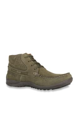 e8d232d53c69 Woodland Olive Derby Boots