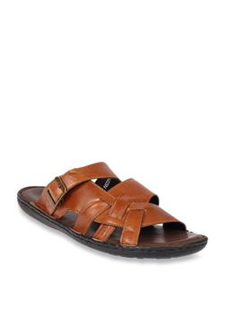 Franco Leone Tan Casual Sandals