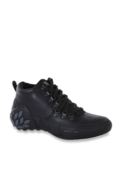 ee0836be53cb Woodland Black Ankle High Sneakers
