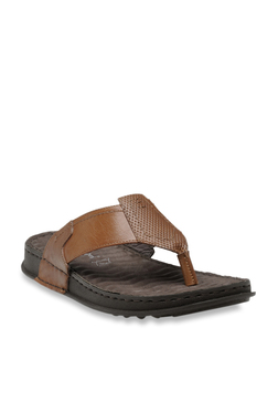 Franco Leone Tan Thong Sandals