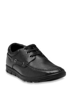 Franco Leone Black Boat Shoes