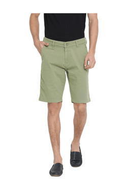 bbf7b89c6d52 United Colors of Benetton Olive Slim Fit Cotton Shorts