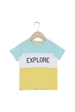 1373e863ba3 HOP Kids by Westside Mint Color Bock Printed T-Shirt