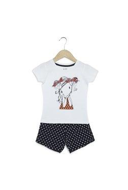 e1caeddf8 Zudio Kids Navy Polka Dot Print T-Shirt And Shorts Set