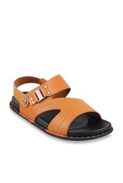 6317bd989f1 J. Fontini by Mochi Tan Back Strap Sandals