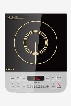 Philips Daily Collection HD4928/00 2100W Induction Cooktop (Black/White)