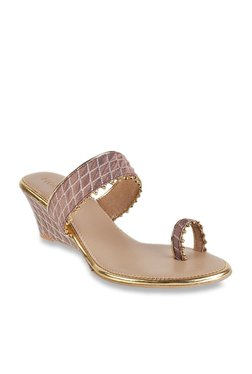 12473c70208 Mochi Brown Toe Ring Wedges