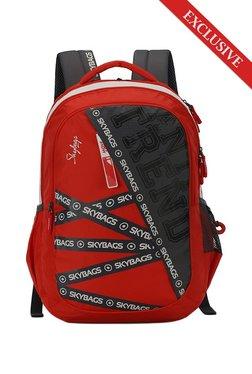 951328df2f57 Skybags Figo Plus Crimson Red   Black Color Block Backpack