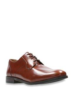 548509d38172 Clarks Edward Plain Brown Derby Shoes