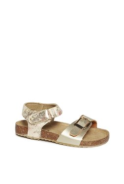 5bfdca4b4ae Yellow Kids by Westside Rose Gold Floral Glitter Sandals