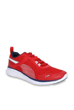 5ba4a772ada3 Puma Flex Essential Pro High Risk Red Running Shoes