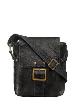 2114ed6c123d Hidesign Vespucci 01 Black Solid Leather Sling Bag