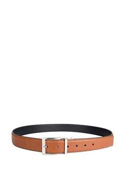 e619ac4b65cd Hidesign Antonio Tan   Black Solid Leather Reversible Belt