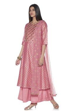 561a9716d203 Vark by Westside Pink Embroidered Kurta