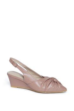 b2d6a14a4ea5a LUNA BLU by Westside Blush Pink Sling-Back Wedge Sandals
