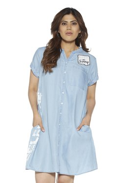 81e011d39f8 Sassy Soda curve by Westside Blue Denim Kara Dress