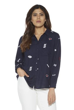 0209d712b29 Sassy Soda curve by Westside Navy Ray Embroidered Blouse