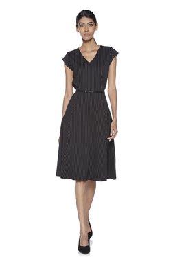 f3be3981b5fe Wardrobe by Westside Black Striped Dress With Belt