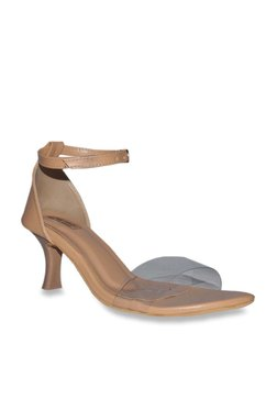 36ede5f6f8e Leatherwood1 Tan Ankle Strap Stilettos
