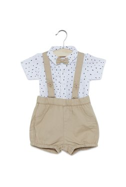 2c9b7dc15eb Baby HOP by Westside Beige Shorts And T-Shirt Set