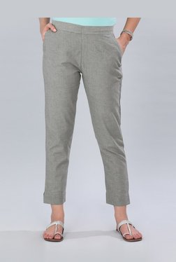 f6bfc4f45e4 Aurelia Grey Cotton Cigarette Pants