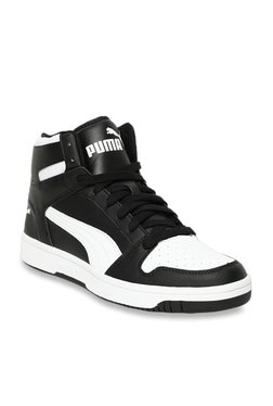 0226426714494f Puma Rebound Lay Up Black   White Ankle High Sneakers