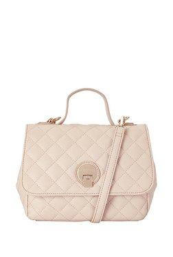 Caprese Sandra Beige Textured Quilted Sling Bag e693527f8c5ee