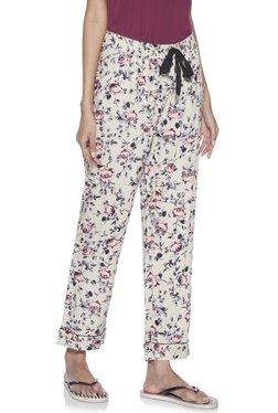 557b02b55b Wunderlove by Westside Beige Floral Print Pyjamas