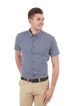 ea46aeabe Pepe Jeans Dark Blue Half Sleeves Printed Shirt