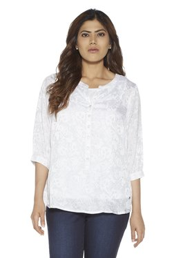 148529b20f Gia curve by Westside White Floral Blouse With Camisole