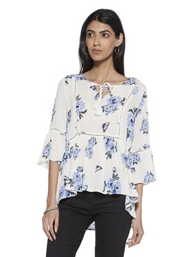 1bb539aeb65c7c LOV by Westside Off-White Floral Milano Top