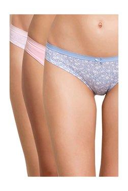 e4d1071d22 Zivame Blue   Pink Printed Bikini Panties - Pack Of 3